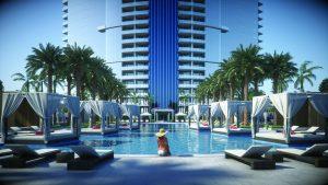 Representación Paramount World Center piscina